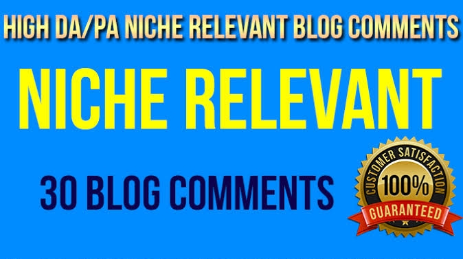 Get 30 High Quality Niche Relevant Blog comments Backlinks With Low OBLs