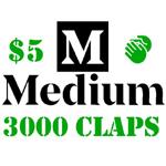 3000 Medium Claps to Your Articles