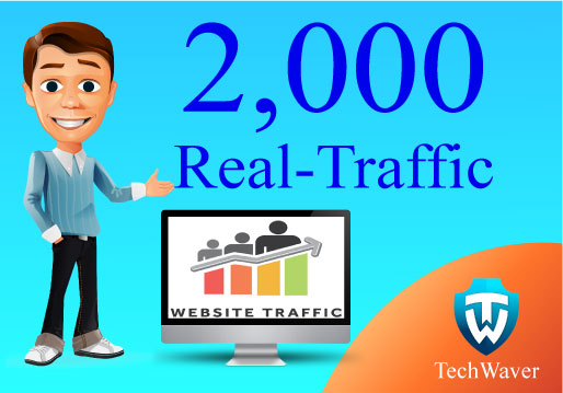 Give you 2,000 Real human Traffic for your website/blog