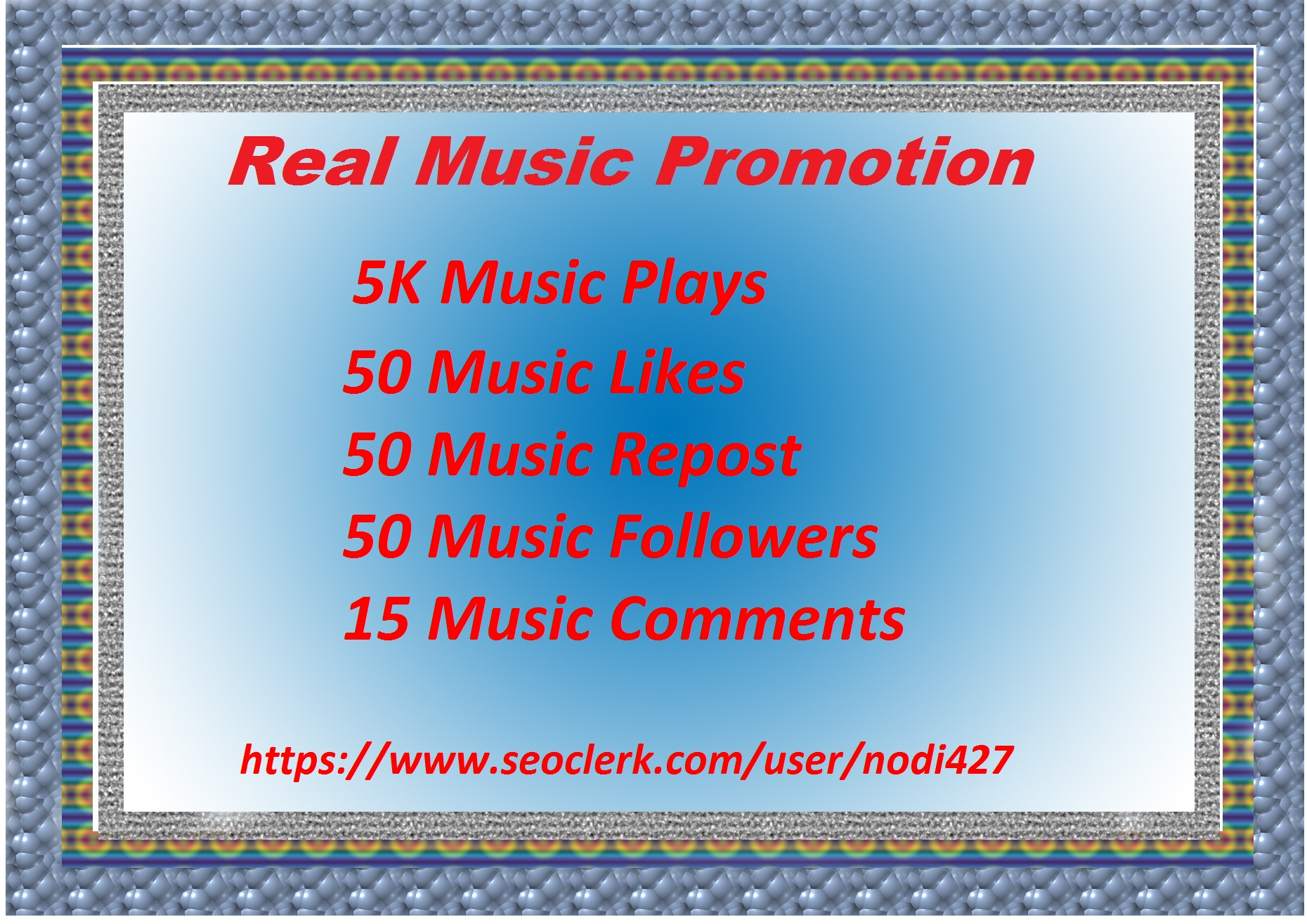 Great Offer High Quality All In All Manual Music Promotion