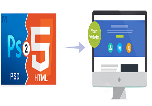 I Can Creat your psd to HTML 5 Or Bootstrap
