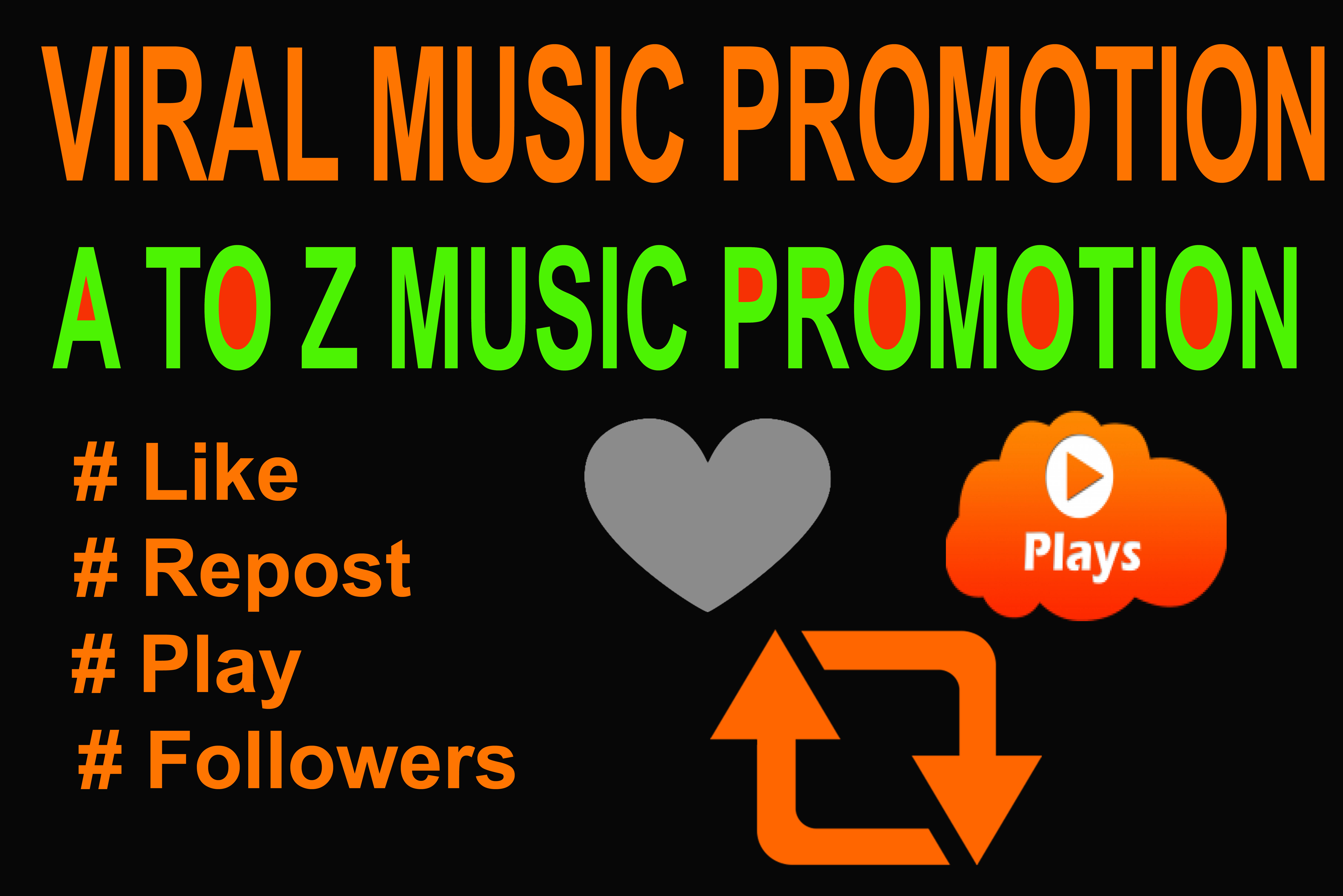 Music Viral Promotion 150K USA Music Play & 350 Llke, 150 Re-post & 25 C0mments