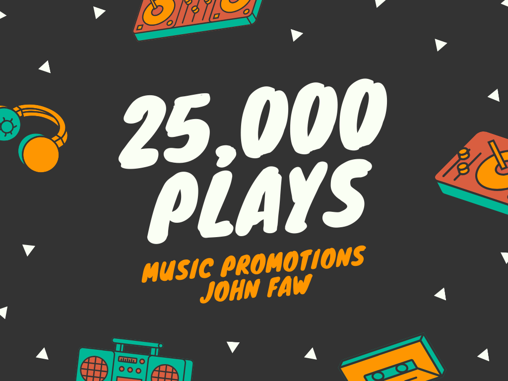 Music Promotion 25,000 Play + 150 Like + 150 Repost + 25 Comment