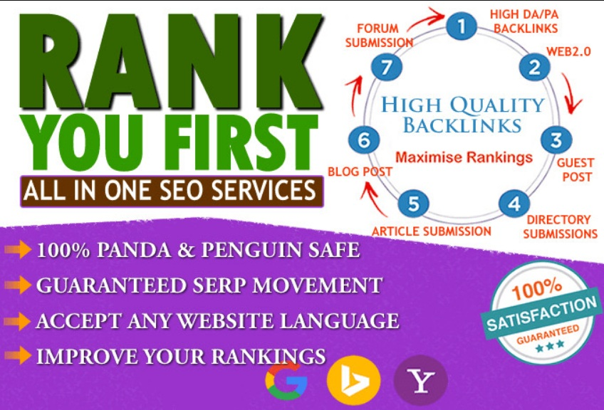 Rank your website Page #1 in Google with Powerful All in One Seo Backlinks Package for your website