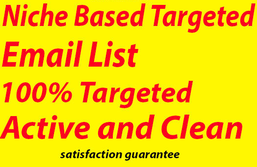 Specific niche and location targeteed email address