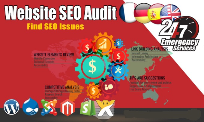 do premium website audit report, SEO action plan and competitor analysis