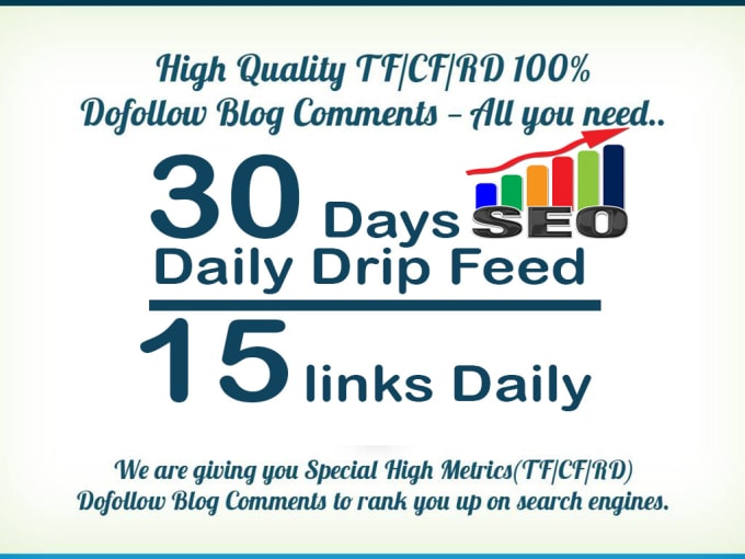 do 30 days SEO drip feed daily 15 dofollow backlinks ...
