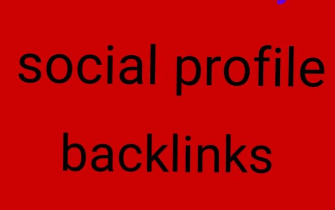 I  create 35 manually social profile backlinks