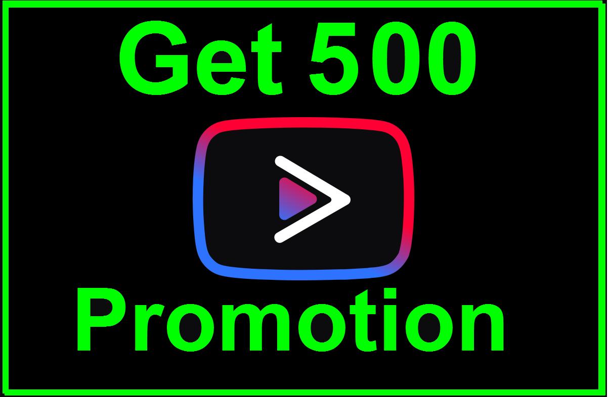 Get 500 Social Media Promotion Non-Drop Guaranted