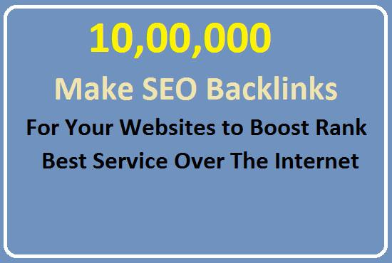 make 10, 00,000 SEO backlinks manually