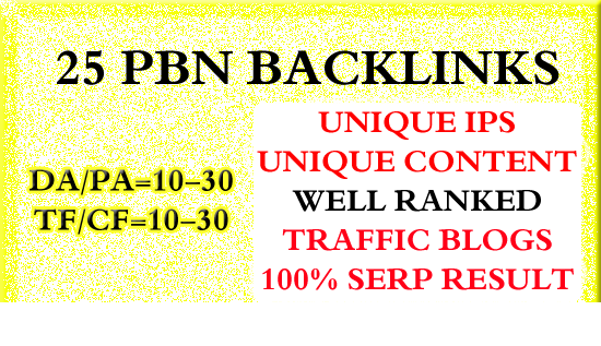 25 Homepage Pbn Backlinks High Tf Cf Da Pa Private Blog Network
