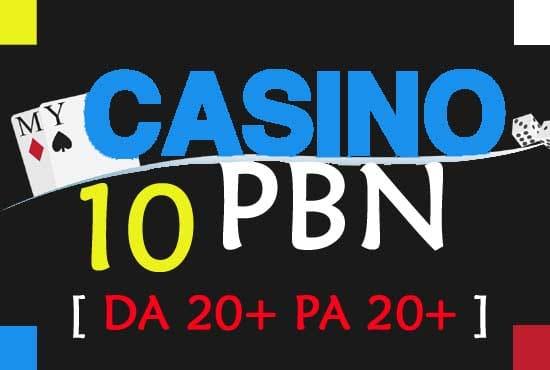 give you 10 casino pbn links form high matrics pbn network