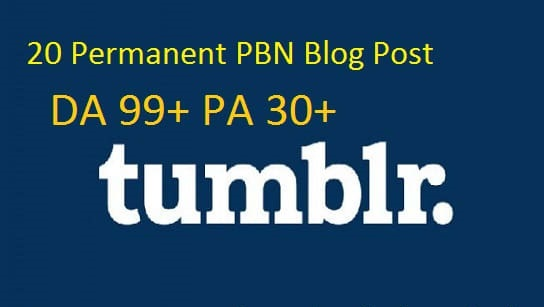 do permanent 20 tumblr pbn blog posts da10 to 50 and ...