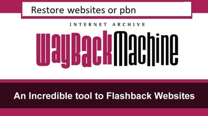 restore website or pbn from web archive wayback machine