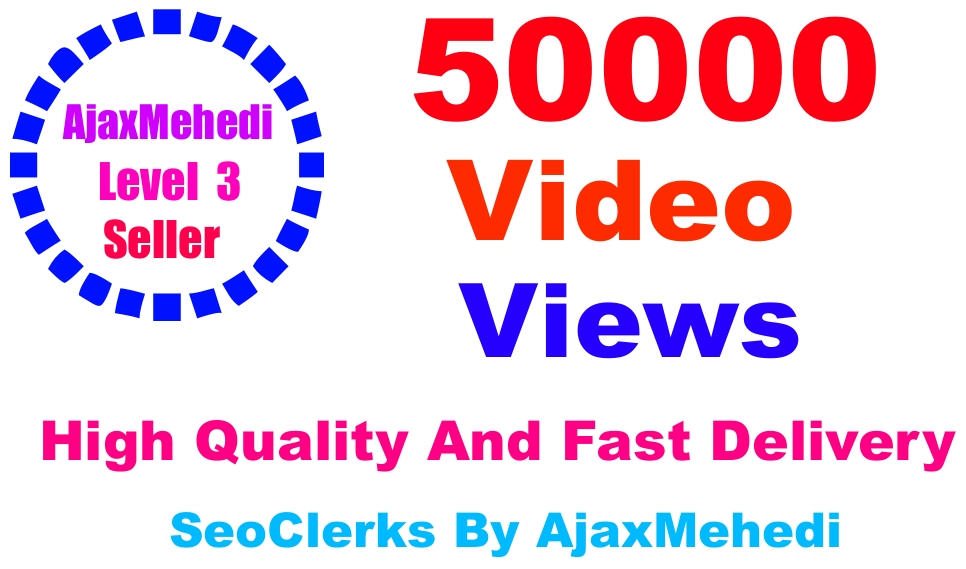 Do Genuine Viral Promotion 50000 HQ Social Media Post Video viewss Non Drop Guarantee