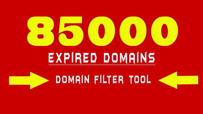provide fresh list of 85,000 expired domains with domain filter tool for pbn