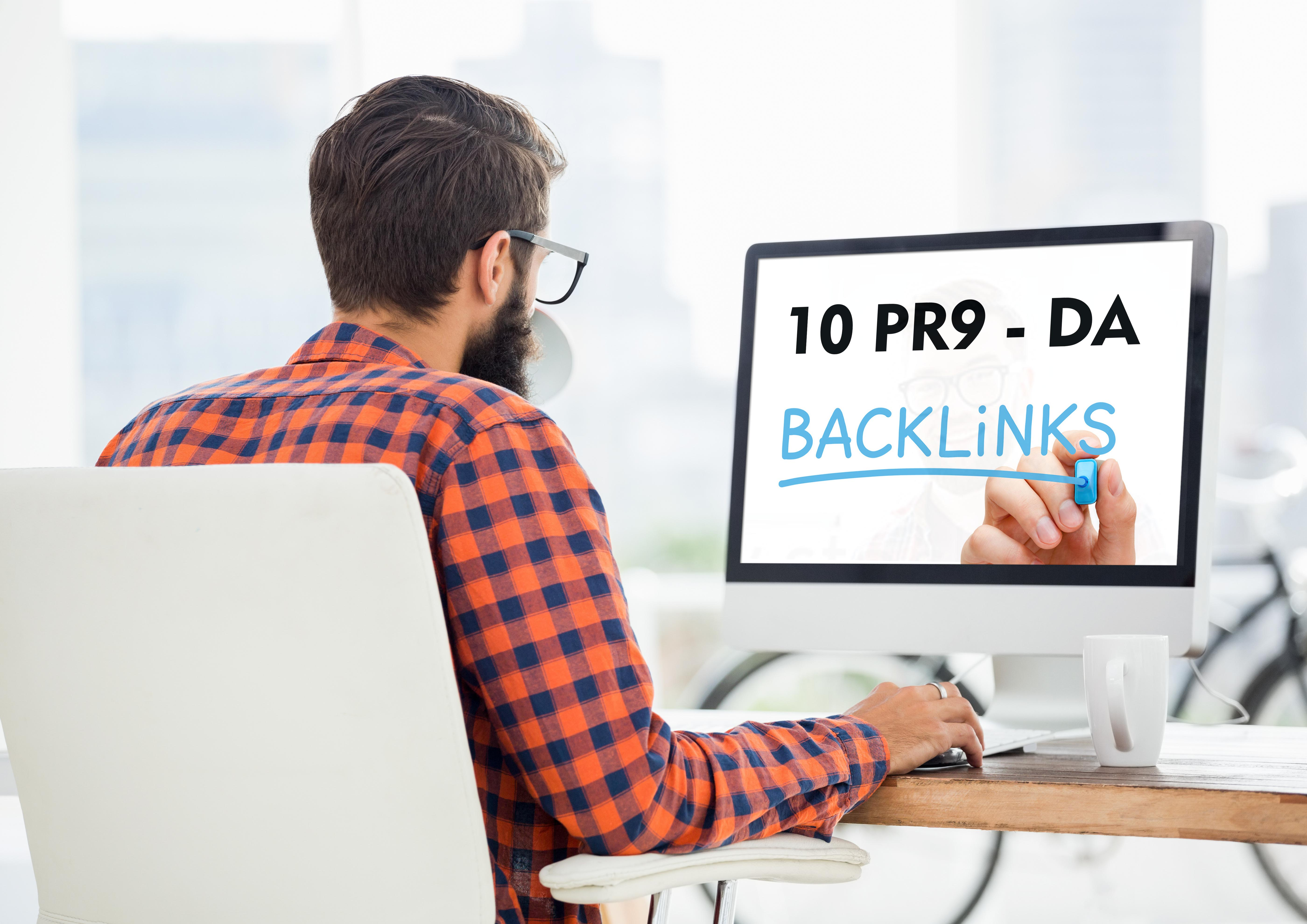 Provide 10 PR9 - DA (Domain Authority) 70+ to Boost your Google Ranking