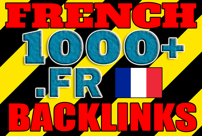 Get over 1000 French .FR backlinks