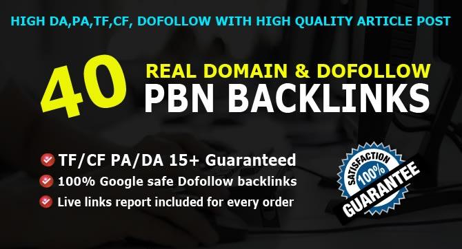 built 40 unique domain dofollow pbn backlinks