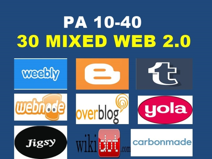 register 30 mixed web 20 properties pa 10 web 20 pbn