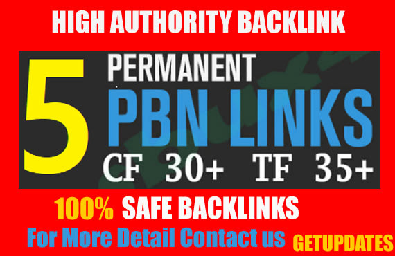 5 pbn backlinks high quality high tf cf