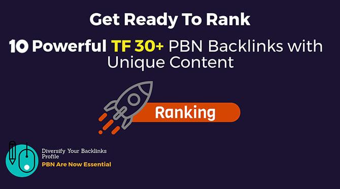 build 10 manual high tf cf 20 da pa 35 pbn backlinks