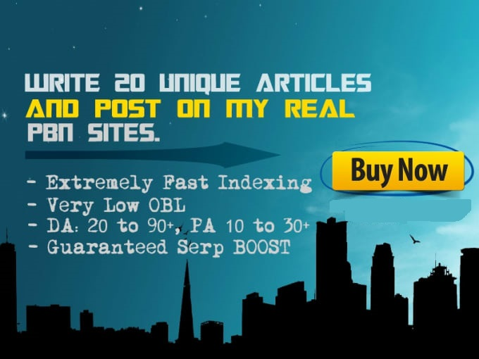 write 20 unique articles and post on my real pbn sites