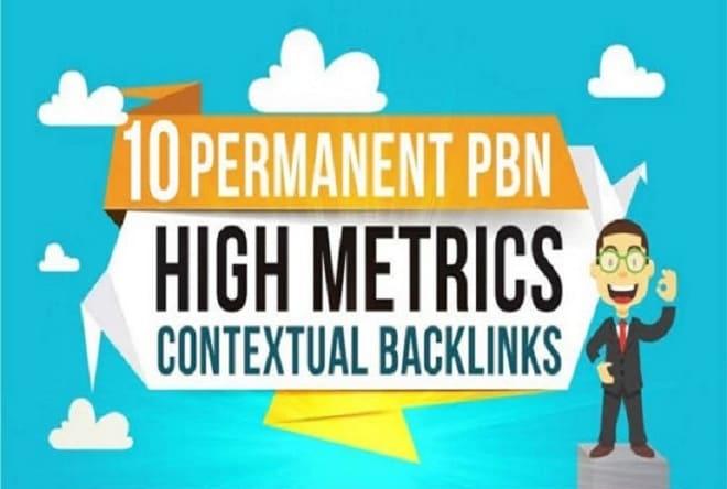 build 10 high PR pa da 40 to 15,  pbn homepage quality links