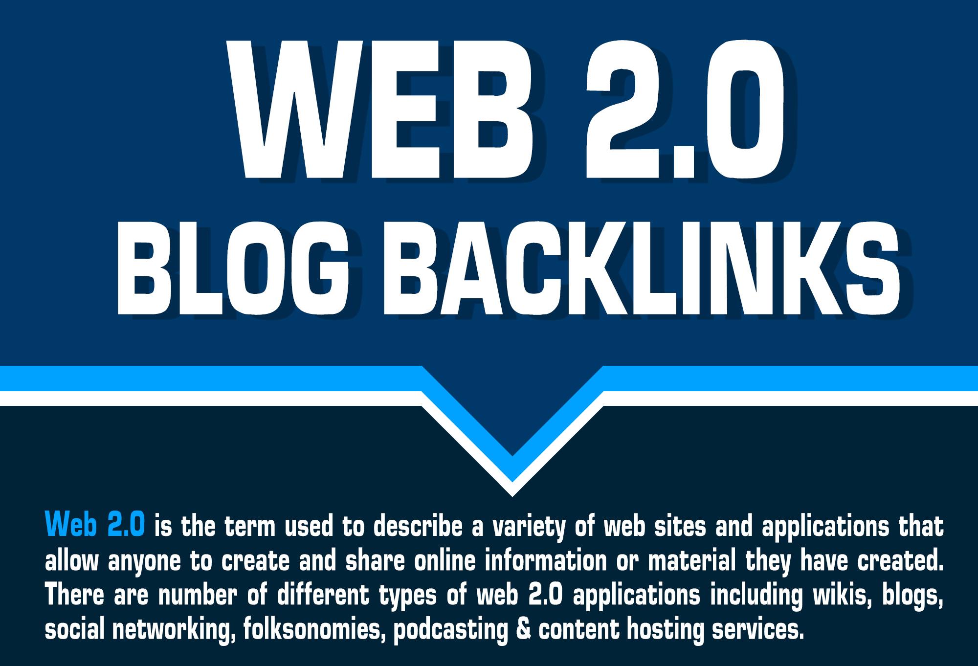 Provide Unique 16 Web 2.0 blogs backlinks