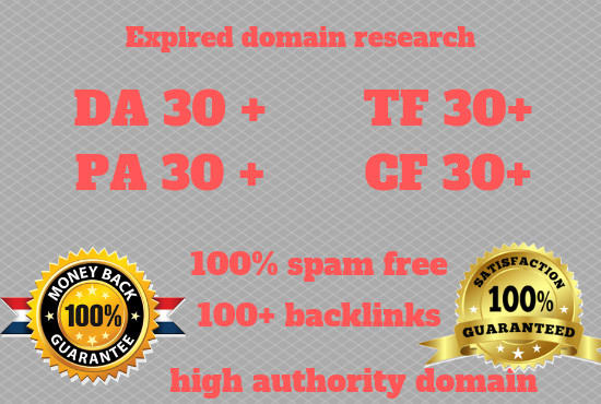 research high metrics expired domain for domain research gig