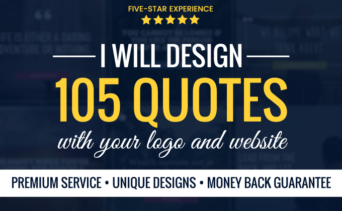 create 105 inspirational image quotes with your logo