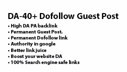 I Write And Build Guest Post Dofollow Link From Domains Over 40 Da