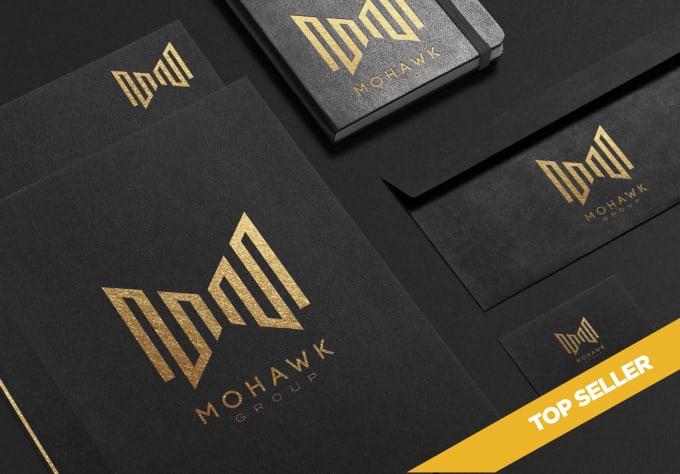 create multiple modern minimalist logo design