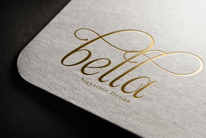 design elegant signature logo