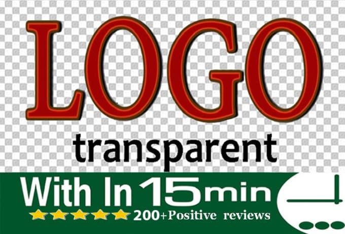 make transparent logo png background