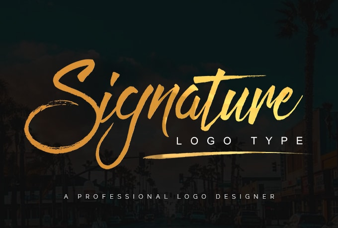 design handwritten or signature logo