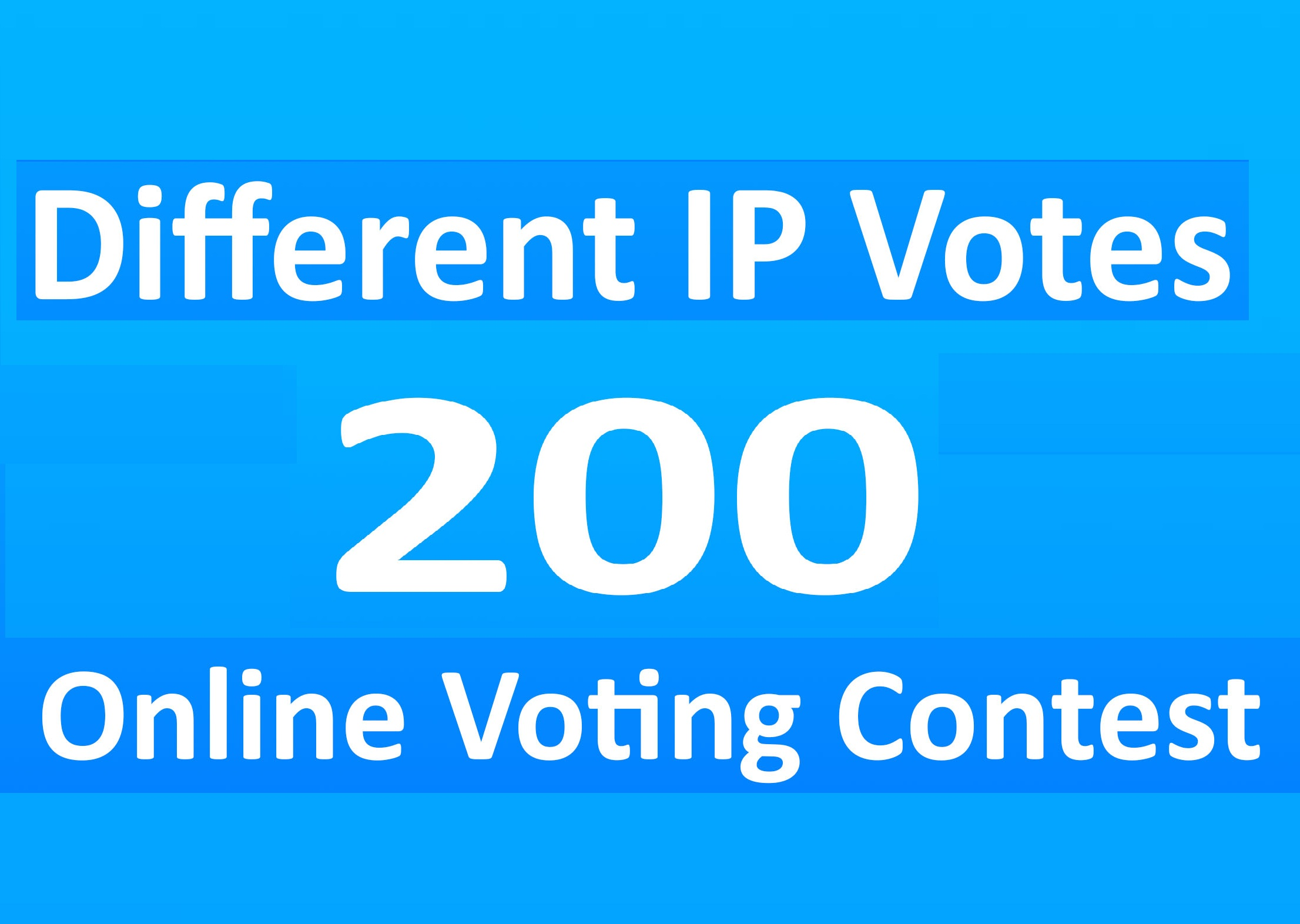 Get You 200 Different IP Votes On Your Online Voting ...
