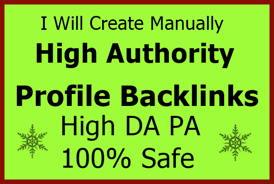 150+ high authority Dofollow profile backlinks