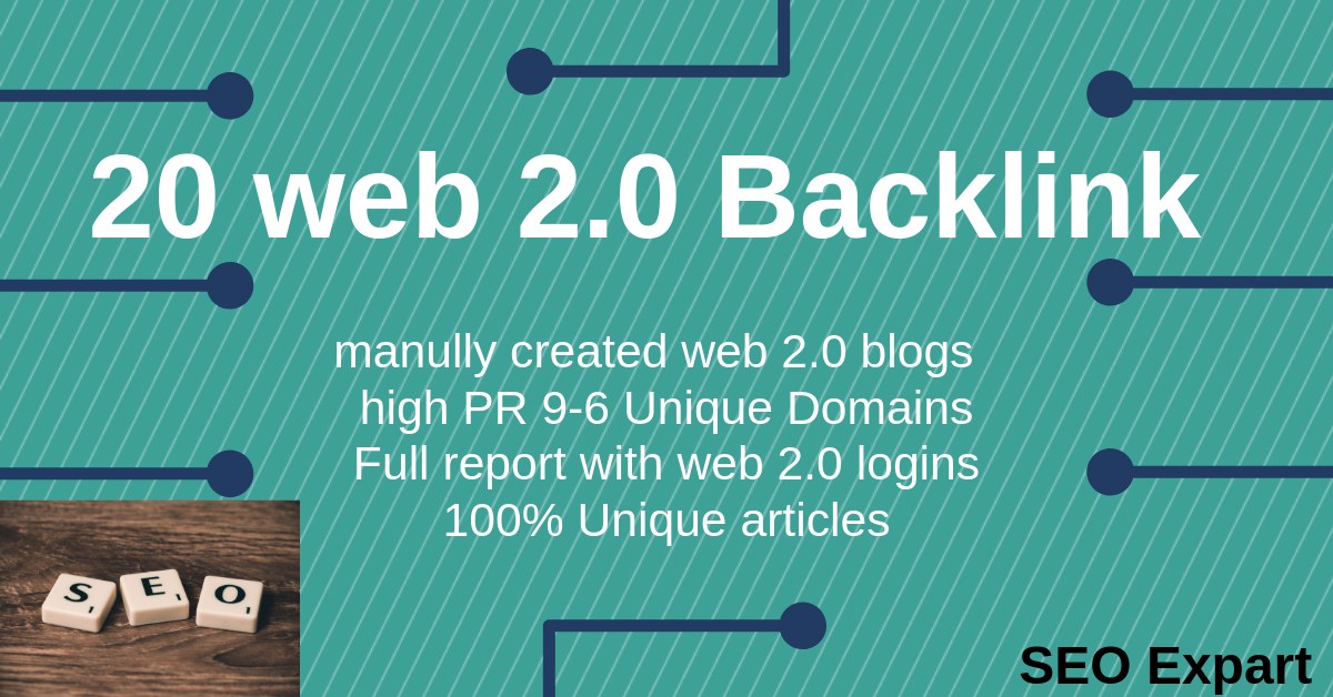 Create Manually 20 High-Quality Web 2.0 Blog SEO Backlinks