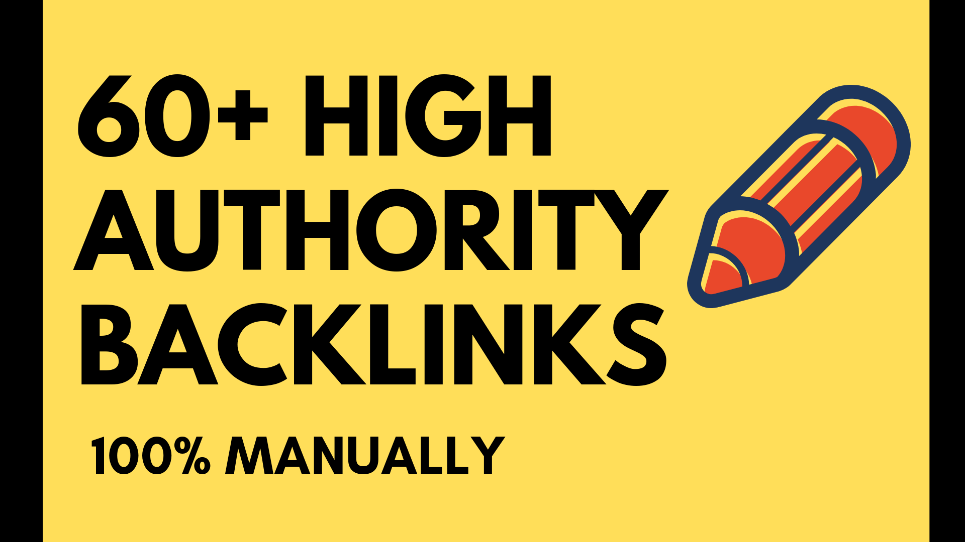I Give You 60 High Authority Backlinks Manually