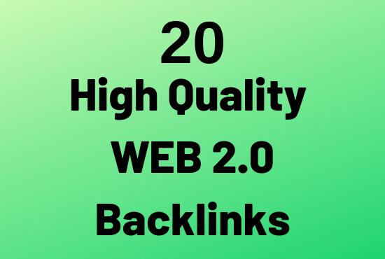do 20 High PR web 2.0 backlinks