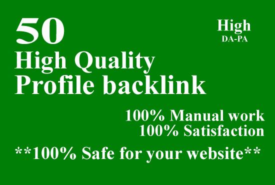 Make 50 High Quality Profile Backlink