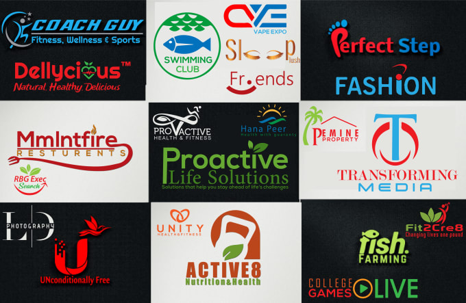 design 3d fitness, real estate ,tech ,fashion and other logo