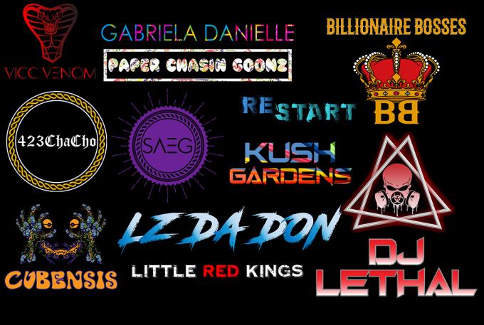 make dj, artist, band logo with vector file n social media kit