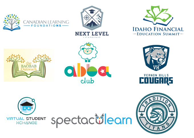 design school, university, education logo