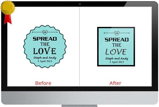 alter,  fix,  modify,  or tweak your logo or icon