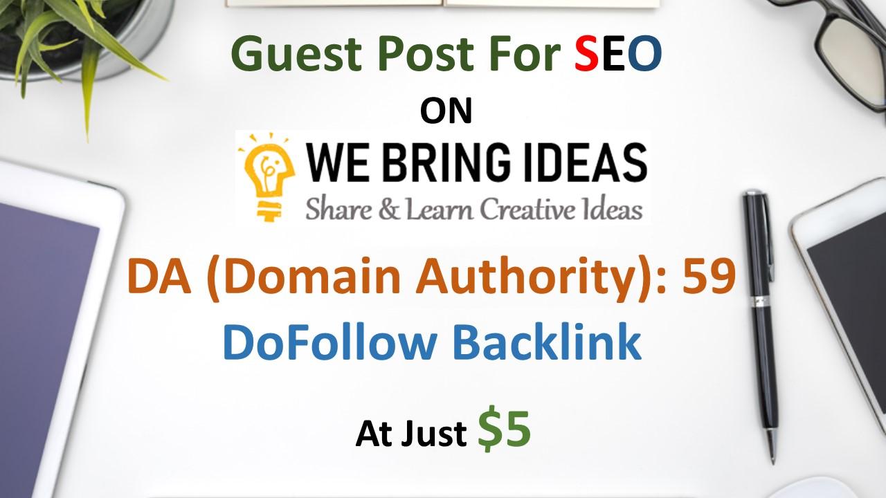 Publish guest post on my 59 DA blog