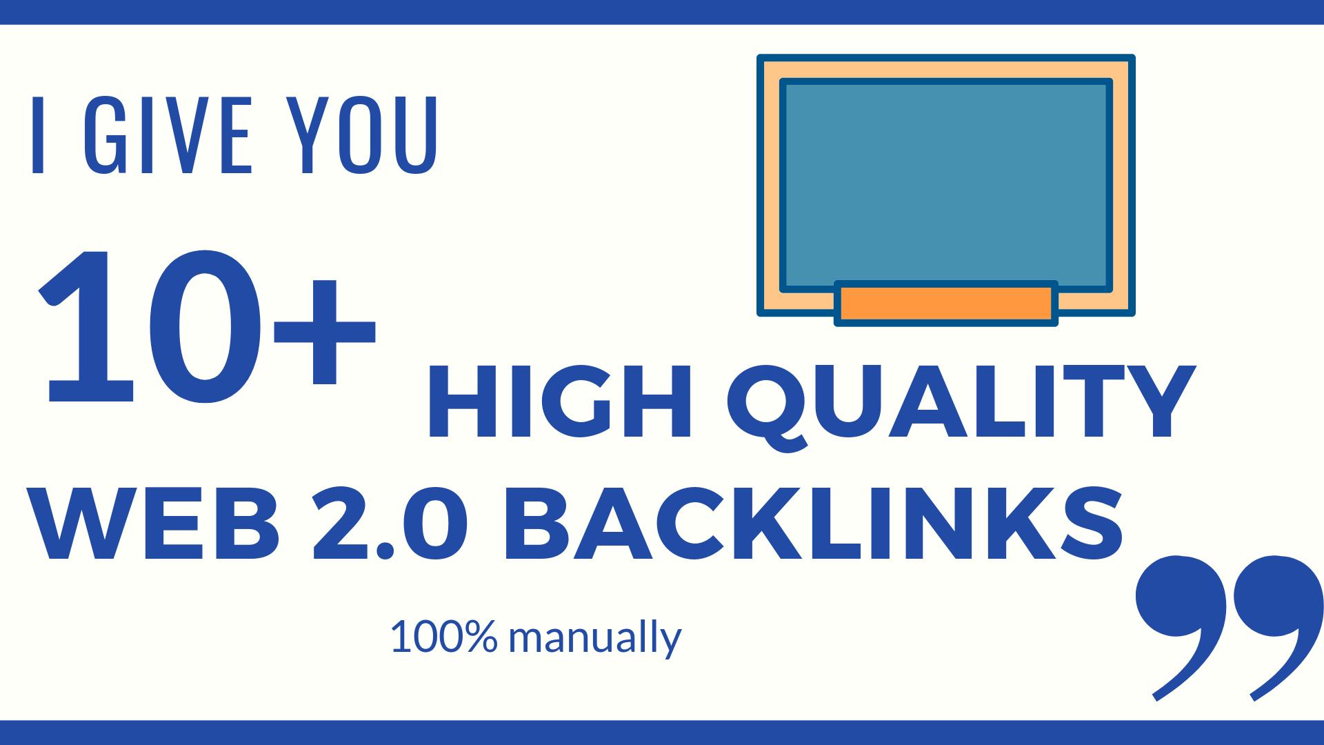 I Give You 10 High Quality Web 2.0 Backlinks