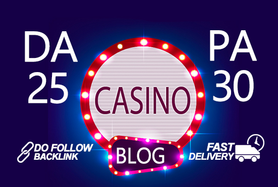 I'll submit guest post on quality Casino blog DA 25