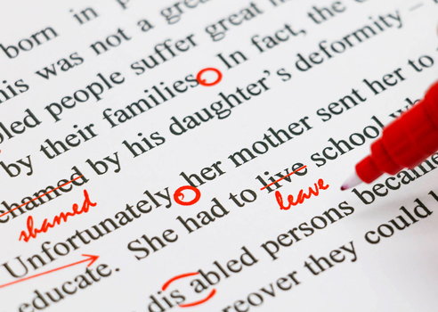 Proofreading for articles